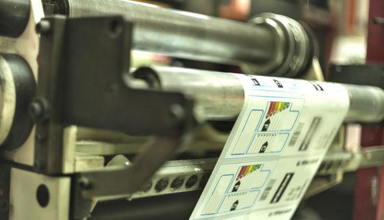 Etiketten Maschine